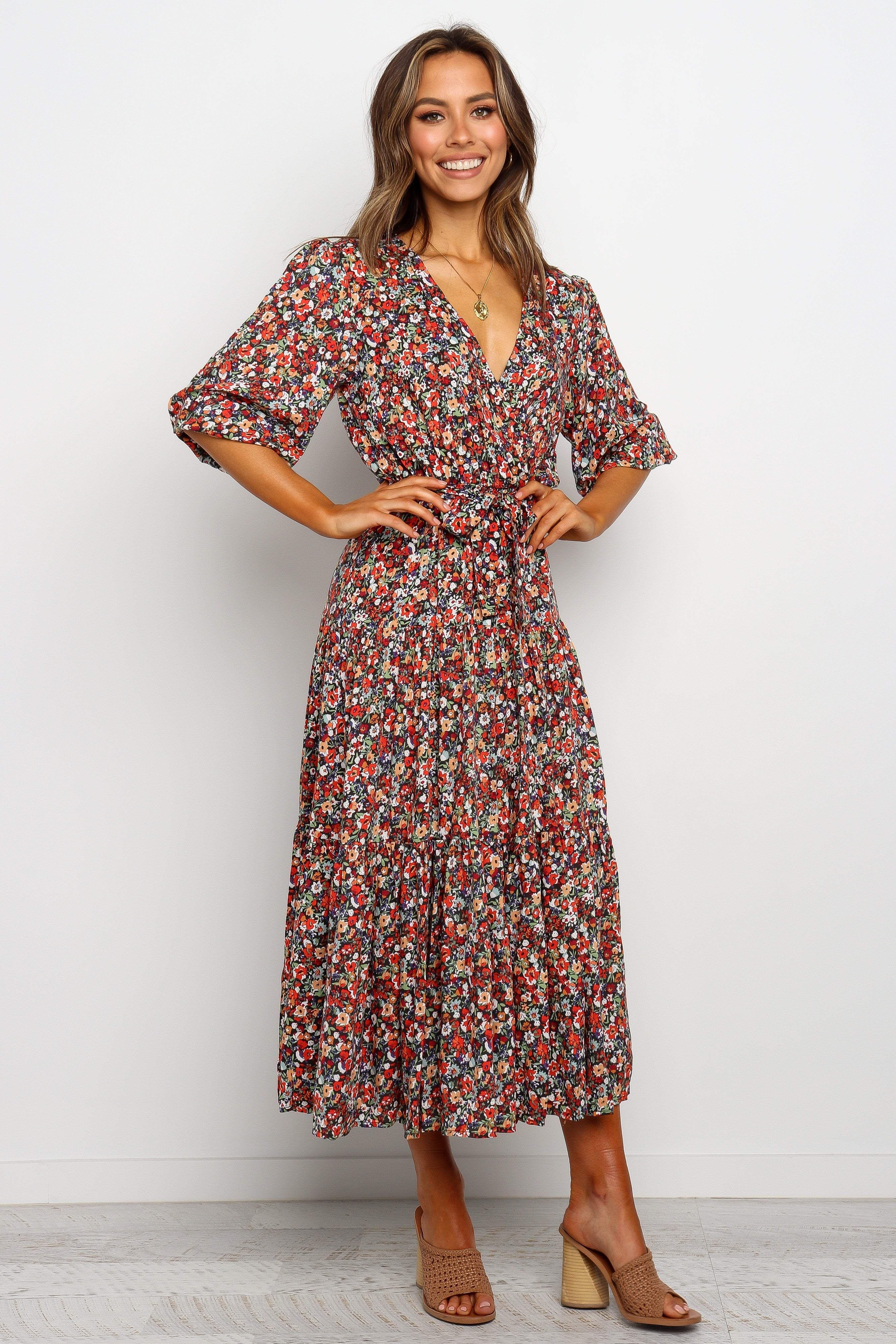 Rosalie Dress Multi In 2020 Casual Dresses Floral Dress Summer Print Dress [ 5338 x 3559 Pixel ]