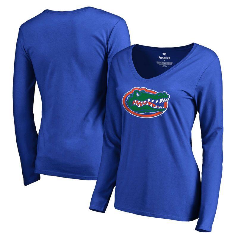 Florida Gators Fanatics Branded Women s Primary Logo Long Sleeve T-Shirt -  Royal 957ed83e9