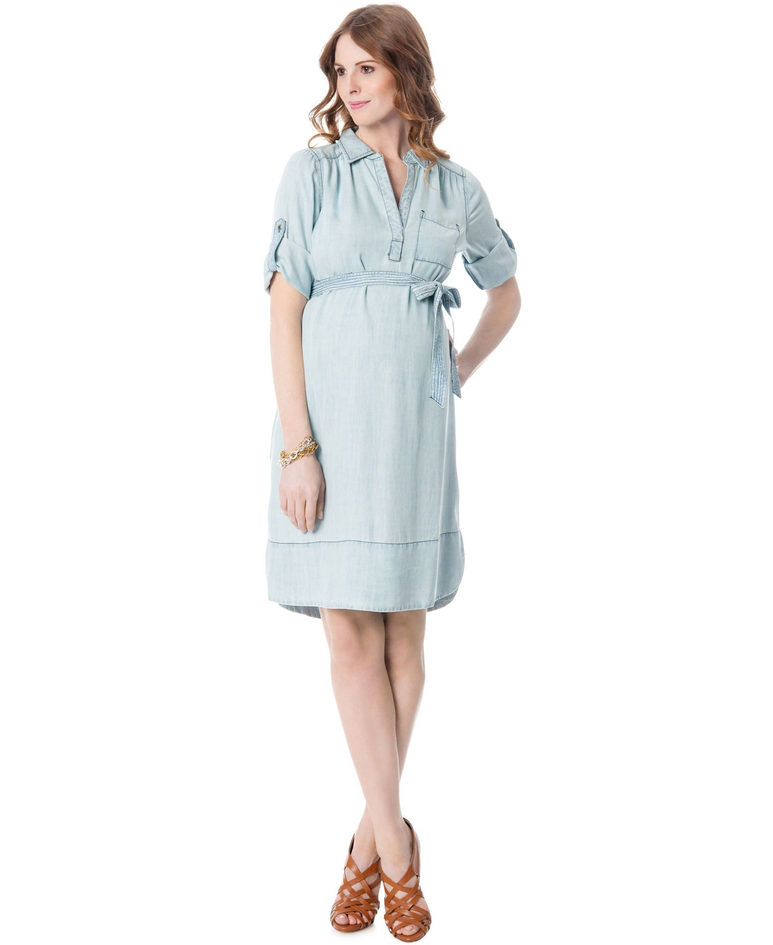 A pea in the pod maternity chambray shirt dress maternity a pea in the pod maternity chambray shirt dress ombrellifo Image collections