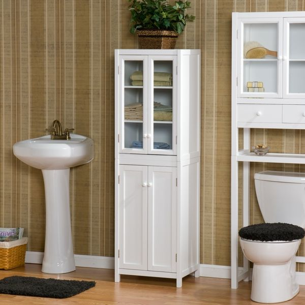 mehr stauraum im badezimmer retroschrank mit glastren - Schranke Fur Badezimmer