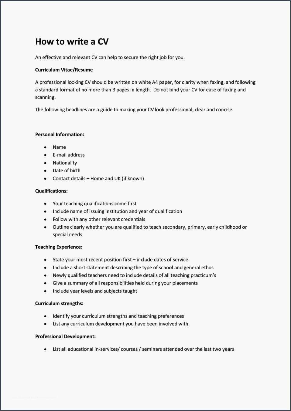 Resume For 16 Year Olds Fresh 12 What To Put Resume If No Experience Writing A Cv How To Make Resume Resume Examples