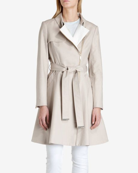 85bb2040835bfa Collared trench coat - Taupe