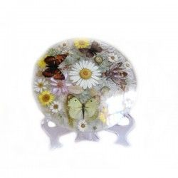 Decorative Plates with Dried Flower, Botanical Plates