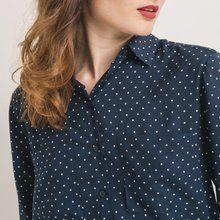 Camisa de topos Estampado azul marino
