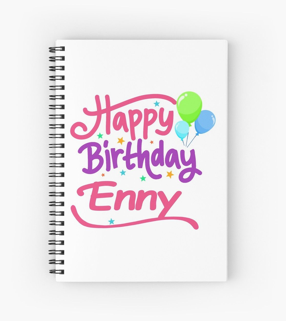 Happy Birthday Enny Spiral Notebook By Pm Names