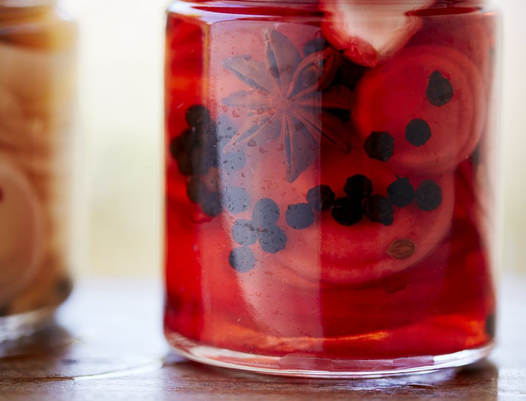 Red Wine Vinegar Pickles With Star Anise And Bay Leaves Recipe Goop In 2020 Red Wine Vinegar Pickles Spicy Pickles