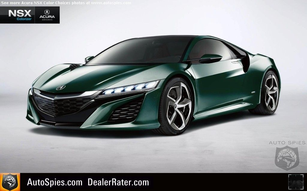 Which Color Is The Best Acura Goes Wild With New Nsx Facebook Colorizer Autospies Auto News Acura Nsx Nsx Cool Sports Cars