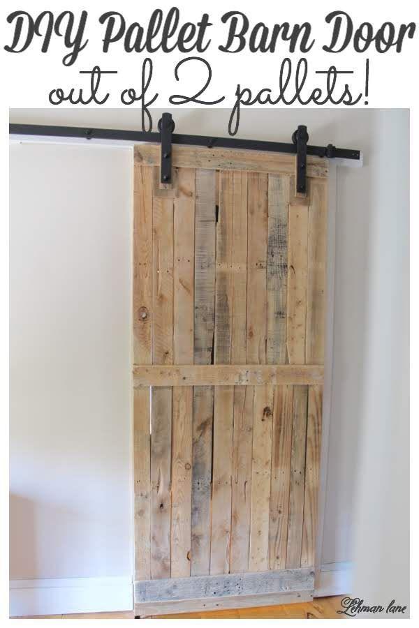 DIY: Pallet Sliding Barn Door - Lehman Lane