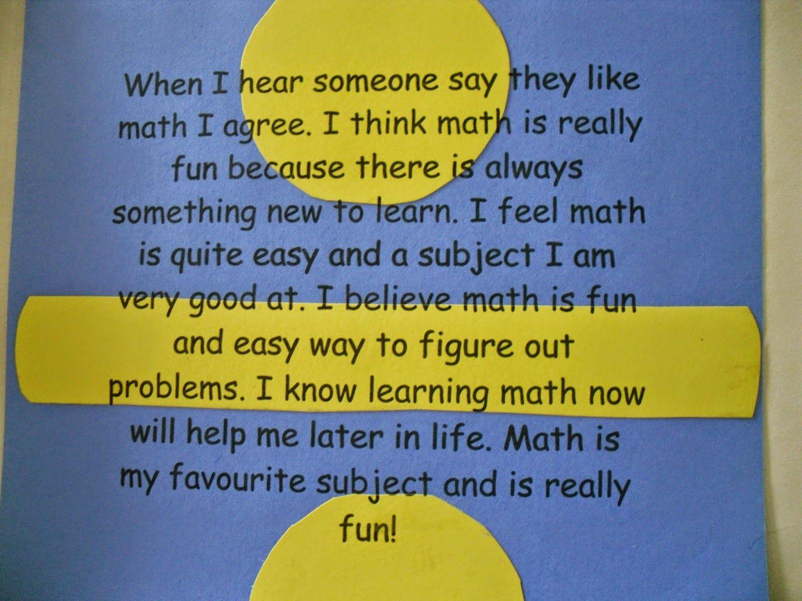 Teaching Math by Hart Math writing, Math about me