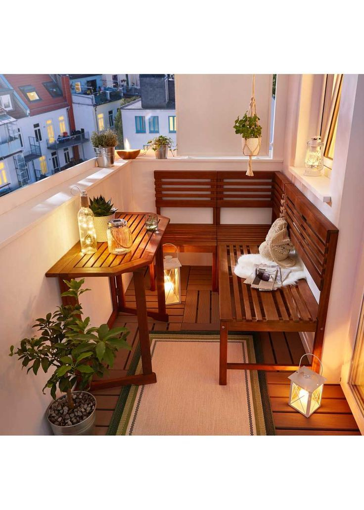 Tung Balkon Lounge (4 Stück) - Just | me - Diy #outdoorbalcony