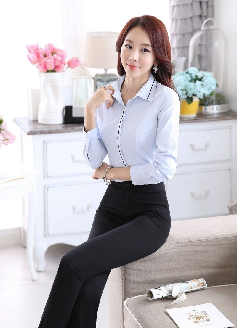 9e7bacaab0128 Plus Size Formal Uniform Styles 2015 Spring Autumn Professional Business  Women Work Suits Tops And Pants