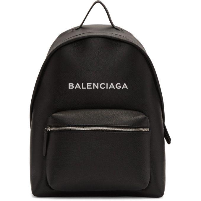 Everyday logo-print leather backpack Balenciaga vVR7VXSRWe