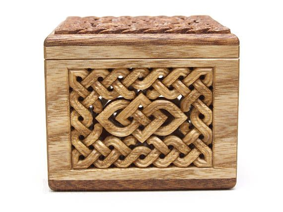 Box With Solar Ornament On The Lid Two Types Of Wood Were
