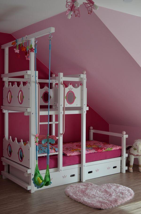 Das PrinzessinenHochbett für Zimmer mit Dachschräge http