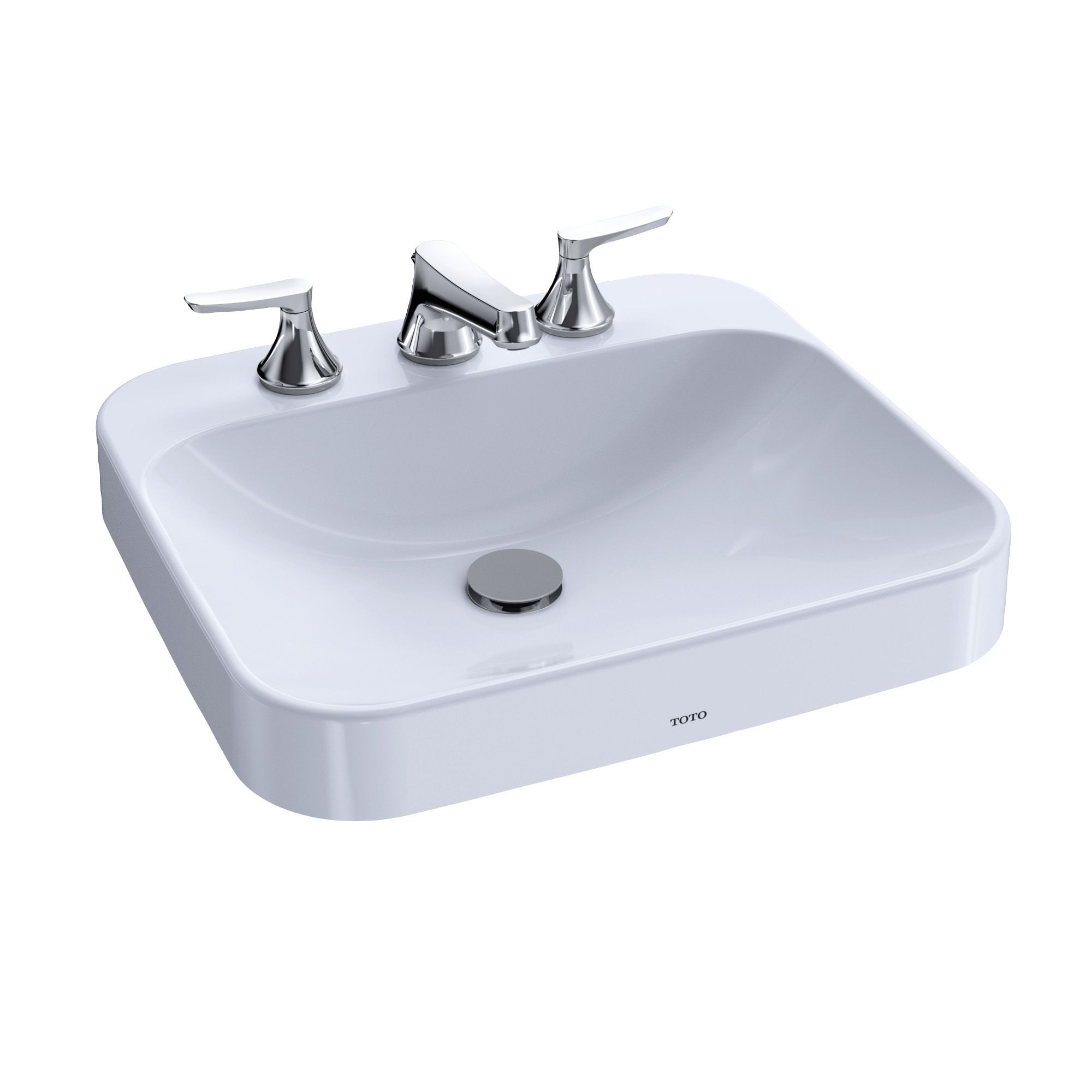 Toto Arvina Rectangular 20 Vessel Bathroom Sink With Cefiontect