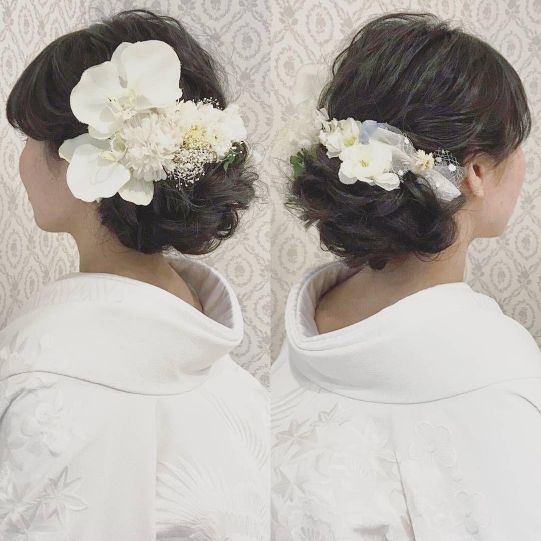 白無垢に似合う洋髪アレンジまとめ Marry マリー ブライダル 髪型