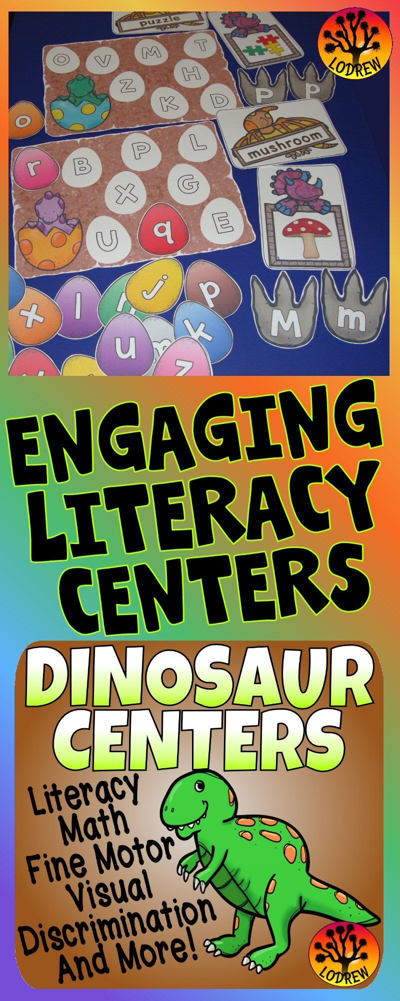 206 pages of dinosaur centers. Activities include literacy, math ...
