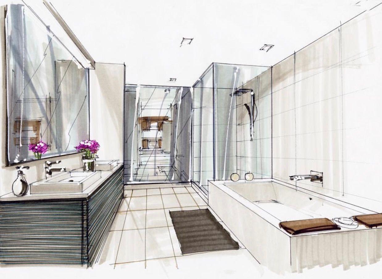 Dessin Salle De Bain Épinglé par luyendaovan sur phong tam va bep | maison dessin