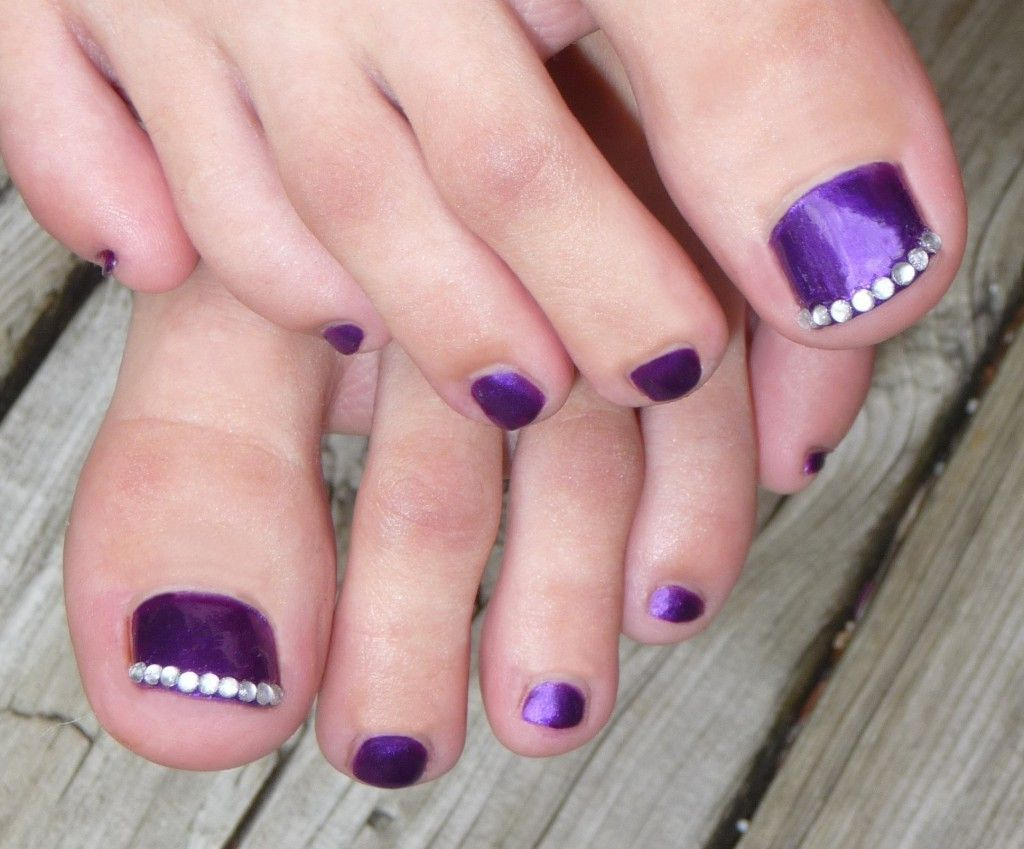 Nail Arts: Toe Nail Art With Gems, toe nail designs, toe nail art ...