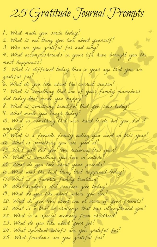 25 gratitude journal prompts with questions and ideas to help make