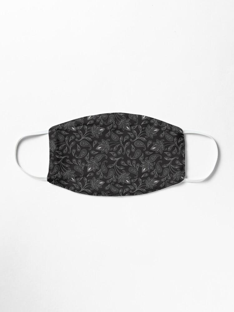 Black Bandana Paisley Mask Mask By Meme King Mask Paisley Buy Black