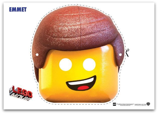 9 Free Lego Movie Printable Masks Lego Movie Characters Emmet