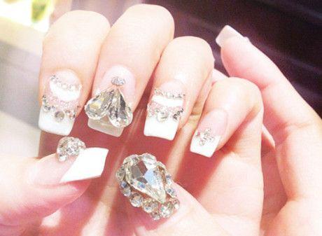 blingbling diamond nail  diamond nails nails beautiful