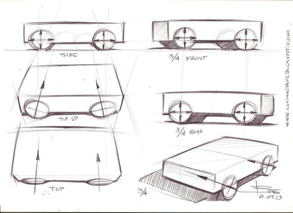 How to draw ellipses for car sketch wheels | HubPages Arts & Crafts ...