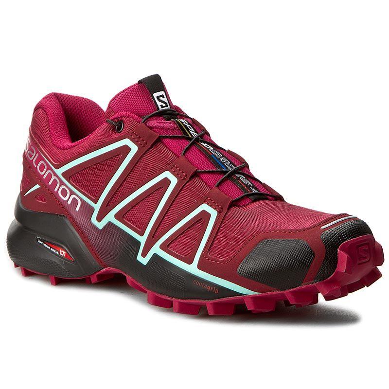 Buty Salomon Speedcross 4 W 393439 Tibetan Red Sangria Black Red Sangria Hoka Running Shoes Black