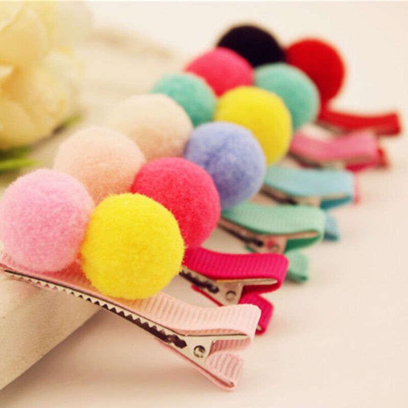 2/5/10 Pcs Cute Balls Hair Clips for Girls Kids Hair Accessories Random TB #fashion #clothing #shoes #accessories #babytoddlerclothing #babyaccessories (ebay link) #kidshairaccessories