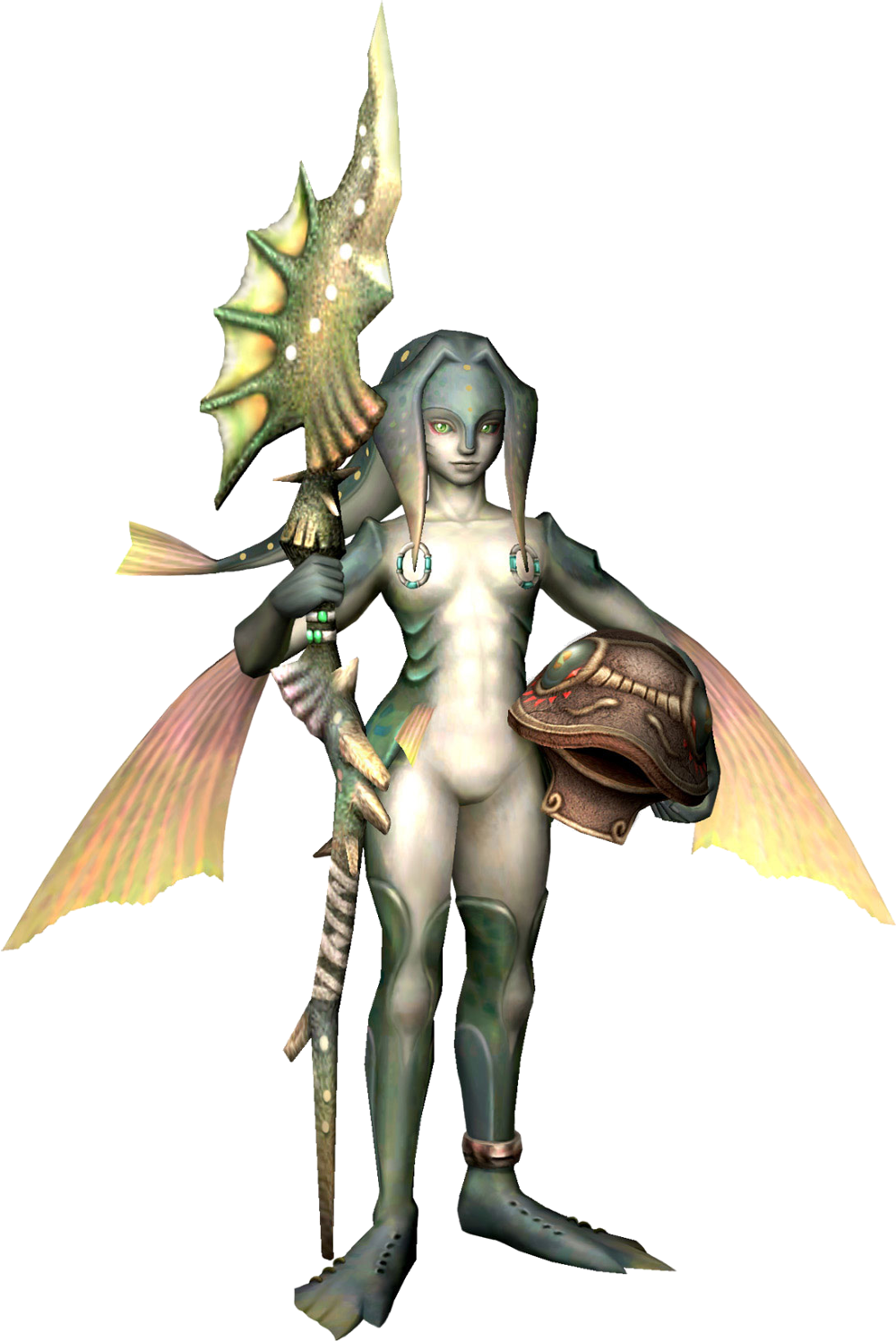 The Legend of Zelda: Twilight Princess - Zora. oh I love the Zora. they are so pretty! Merfolk, The Legend Of Zelda, Zoro, Saga, Création De Personnage, Wii, Personnages Fantastiques