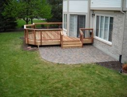 Deck And Patio Combo Patio Deck Designs Decks Backyard Backyard