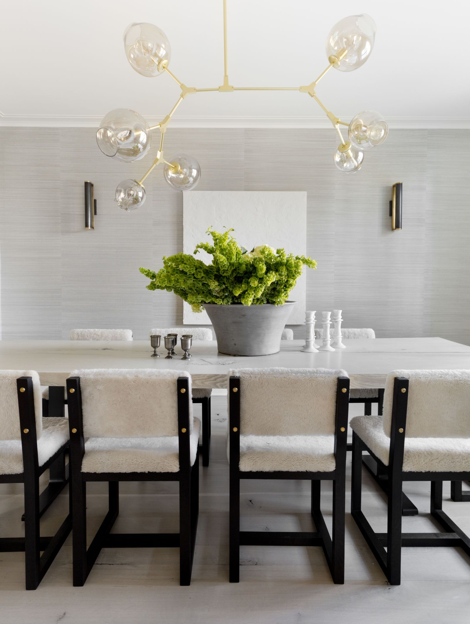 Flat surfaces in dining rooms provide the