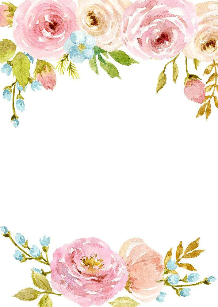 Watercolor Flowers Border Png Free Free Pik Psd Watercolor Flower Border Watercolor Flowers Flower Art Flower Border