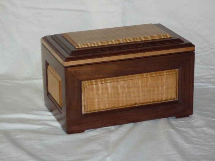 walnut and flamed maple box Fine Woodworking Pinterest Box