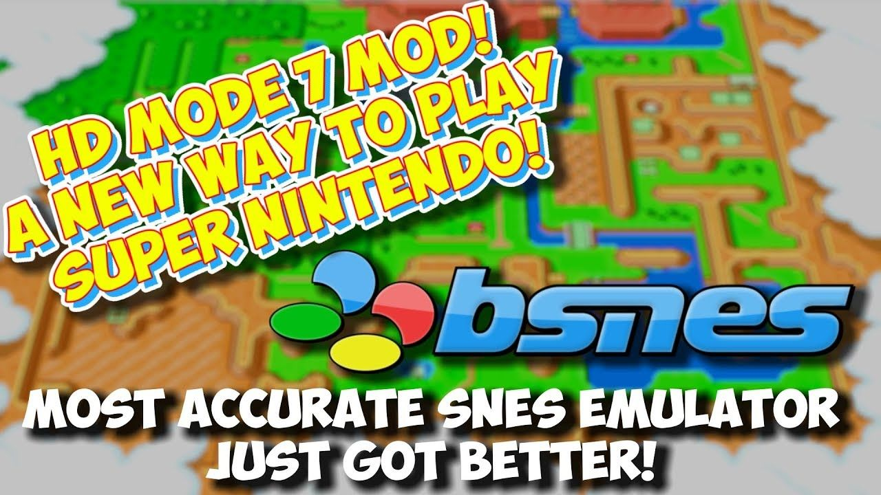 A New Way To Play SNES! HD Mode 7 Mod For BSNES Emulator