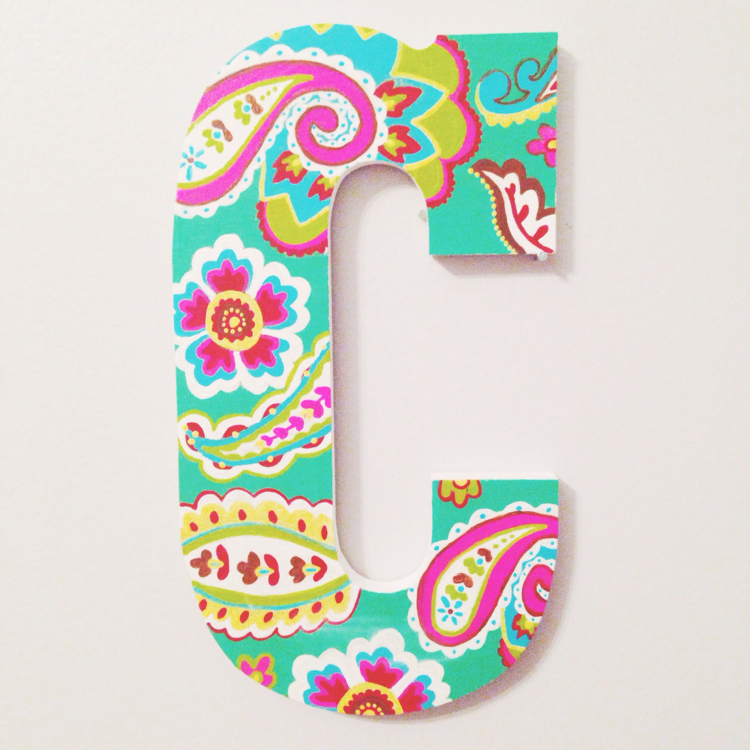 Block Style C In Tutti Fruitti  Per Letter KindasouthernEtsy