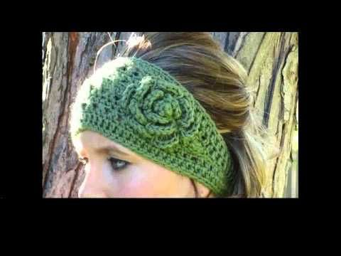 How to Crochet Earwarmers / Headband Pattern #23│by ThePatterfamily ...