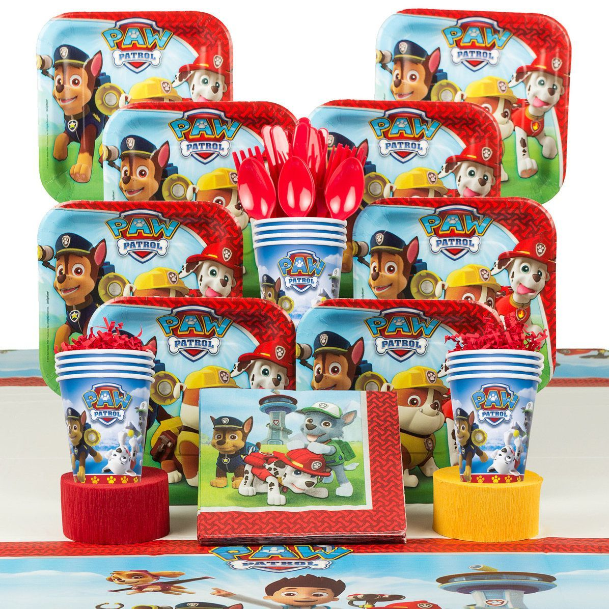 Paw Patrol Birthday Party Supplies Deluxe Tableware Kit