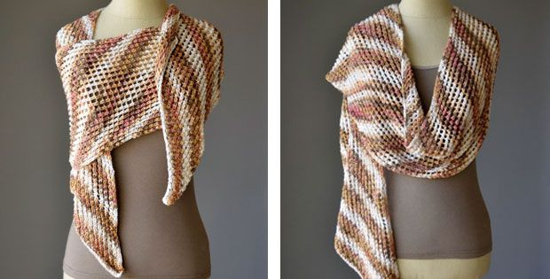 Photo of Desert Knitted Textured Scarf [FREE Knitting Pattern]