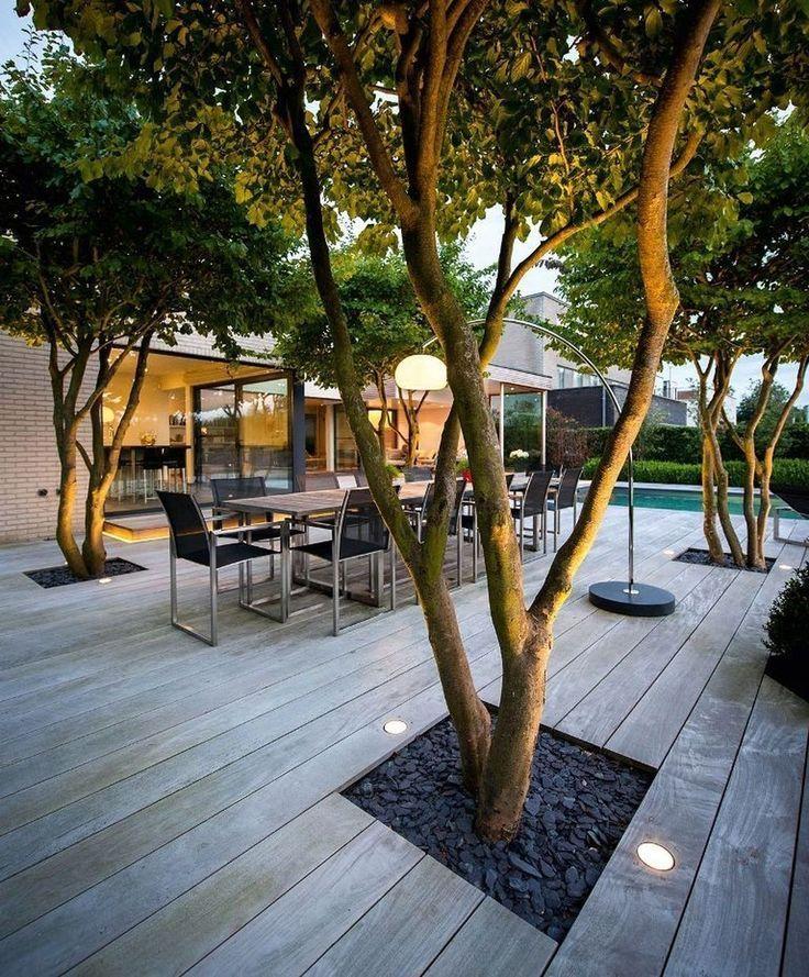 Beautiful 38 relaxing patio garden design ideas with lighting. # # - Elaine