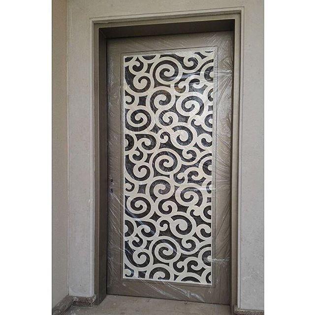 احدث موديلات واشكال ابواب الحديد قص ليزر للطلب 0559369666 من خدماتنا تنفيذ المحلات التجارية تنفيذ كشك المو Steel Gate Design Gate Design Floor Wallpaper