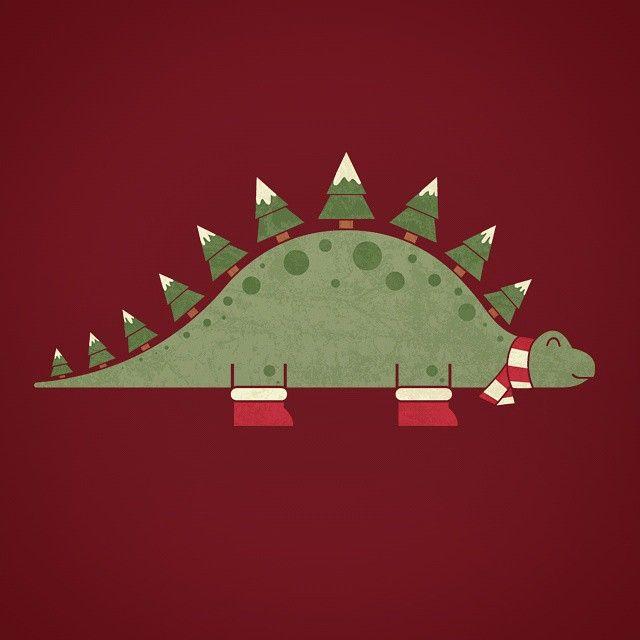 Instagram Photo By Handsoffmydinosaur Nov 26 2014 At 5 48pm Utc Dinosaur Christmas Christmas Art Cute Christmas Wallpaper