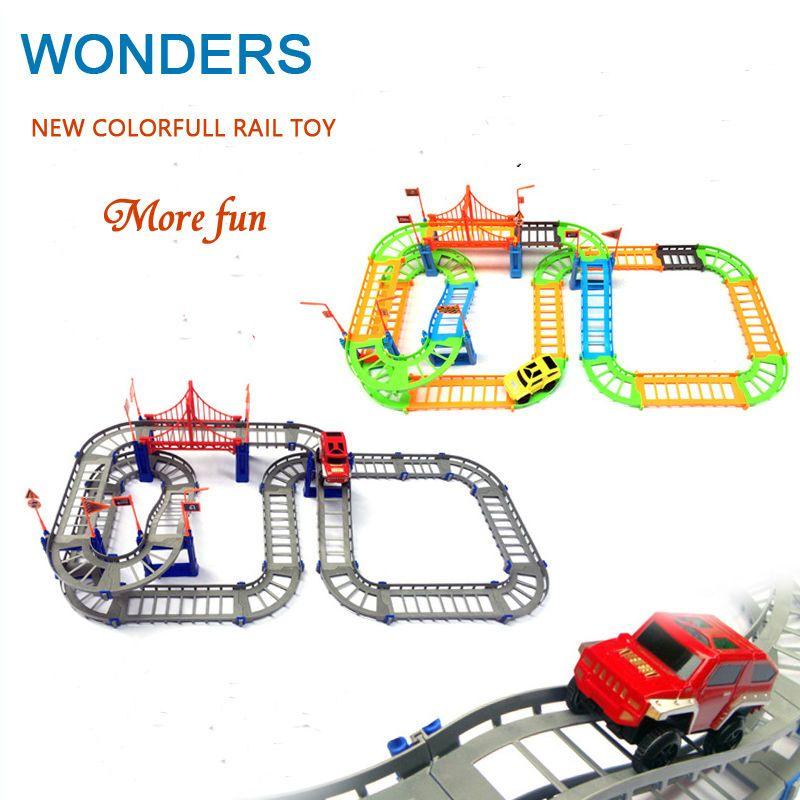 새로운 스타일의 다채로운 레일 자동차 장난감 다층 철도 차량 장난감 토마스 전기 기차 트랙 장난감 장난감 소매 포장