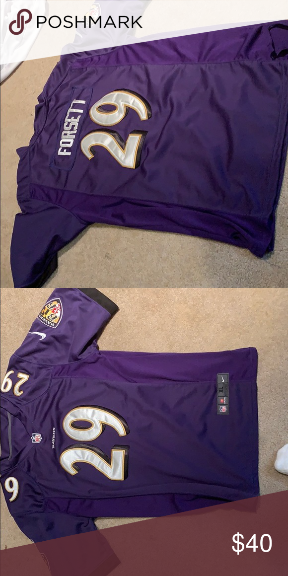 Ravens #29 Justin Forrest jersey youth XL NFL Jersey Ravens, size ...