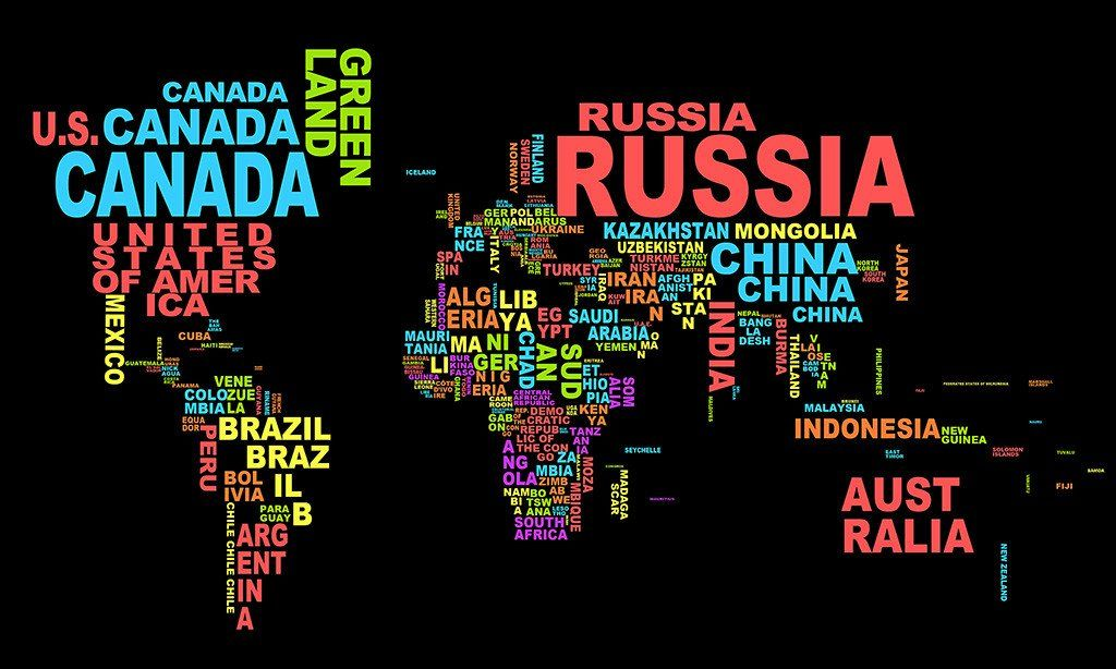 Map Of The World In Letters Words Poster Products World Map
