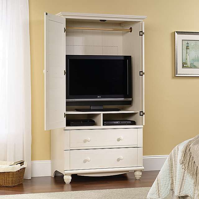 Harbor View Antique White 2-Drawer TV Stand | Kirklands
