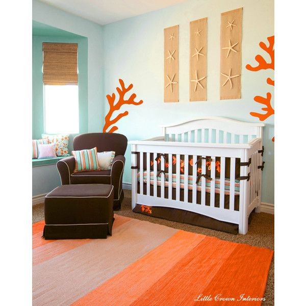 Beach Theme Designer Nursery Found On Polyvore I Like The Seashell Décor