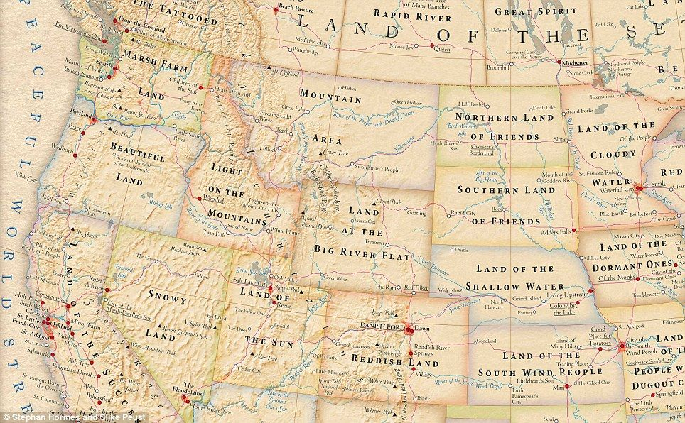 The meaning map of America Missouri is the 'Land of The
