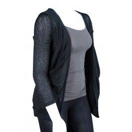 Junior Plus Sheer Black Cardigan Sweater! http://www ...